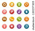 Colored Dots - Ecological and Recycling icons - stock photo
