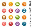 Colored Dots - Medical and Healthcare icons - stock vector