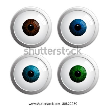 colored eyes vector illustration - stock vector
