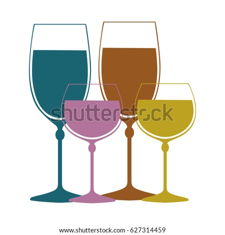 Colored glasses, background