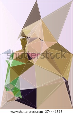 Colored graphic vector abstract polygonal background