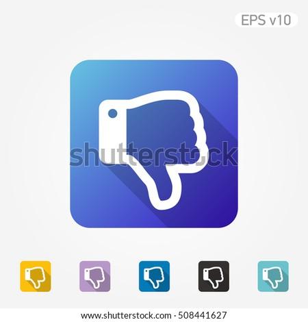 Colored Icon Dislike Symbol Shadow Stock Vector 508441627 Shutterstock