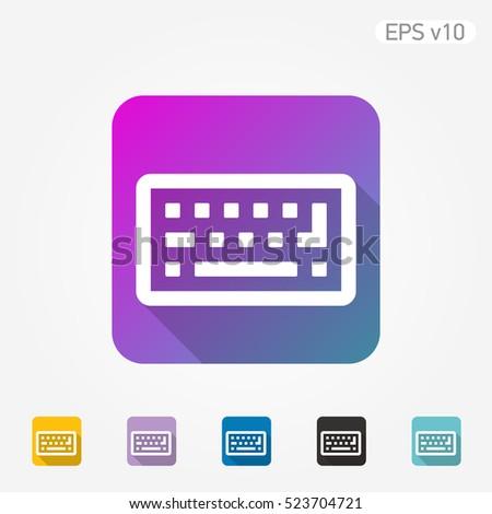 Colored Icon Keyboard Symbol Shadow Stock Vector 523704721