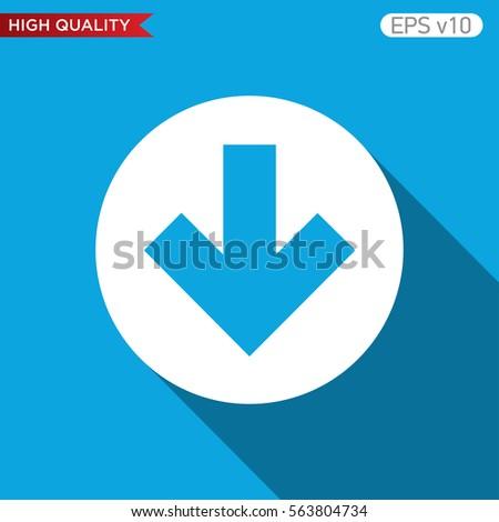 Colored Icon Button Down Arrow Symbol Stock Vector 563804734