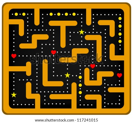 Colored Maze - stock vector
