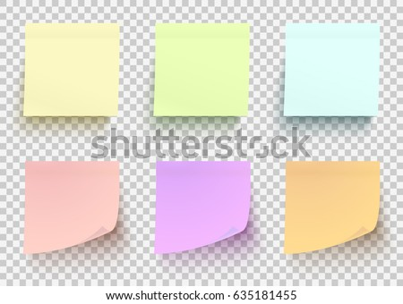 Set Pink Sticky Note Isolated On Stock Vector   Shutterstock
