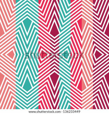 Colored pattern in zigzag - stock vector