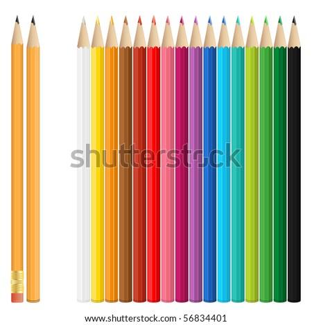 Colored pencil - stock vector