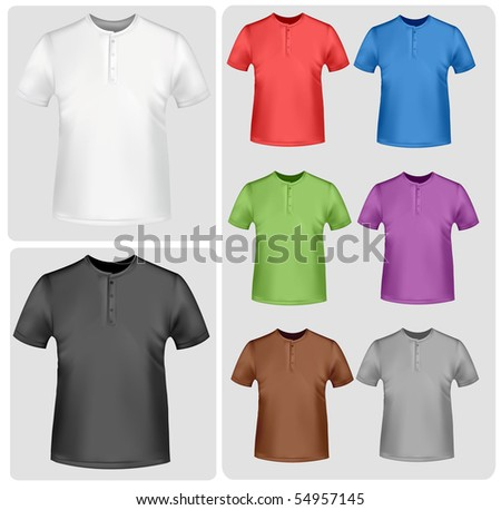 Colored polo shirts. Photo-realistic vector illustration