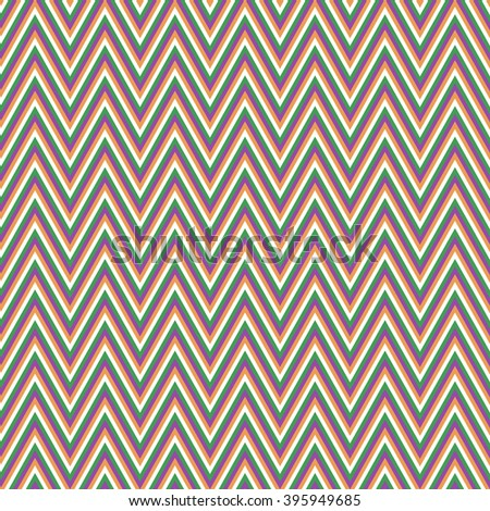 Colored retro chevron pattern vector background design