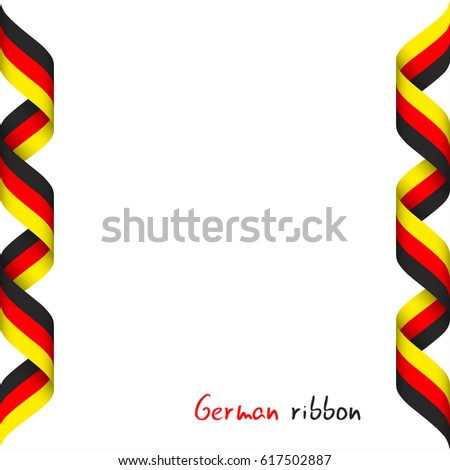 colored ribbon german tricolor symbol german stock vector royalty
