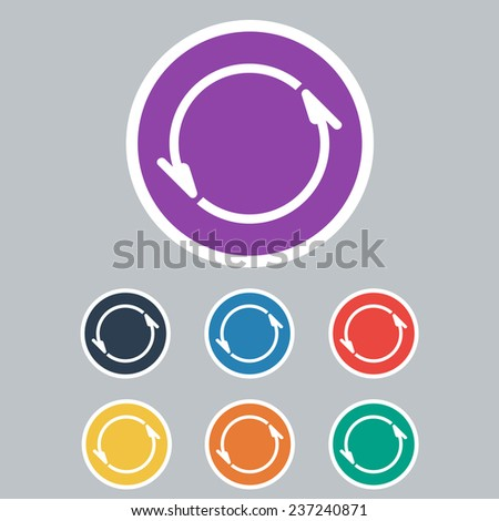 Colored Set of Update. Vector Illustration - stock vector