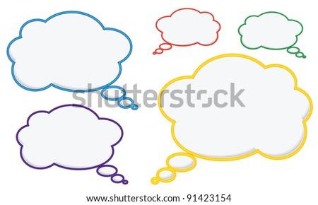 Colored speech bubbles - stock vector