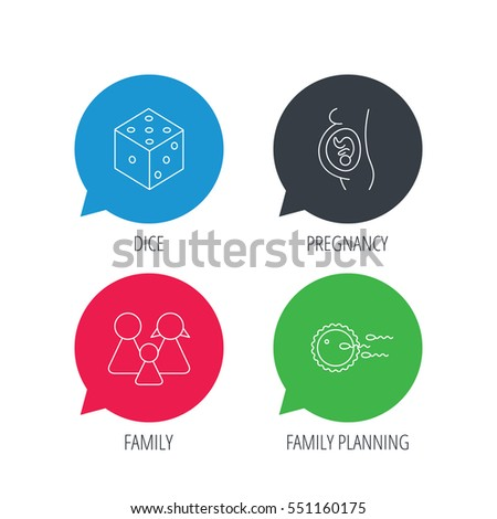 Pregnancy family family planning icons dice stock vector for Family planning com