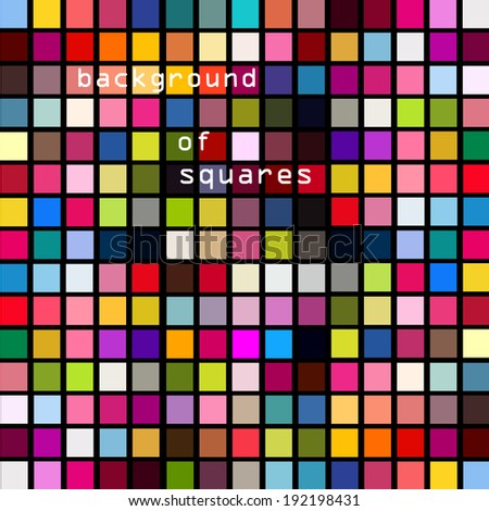 colored squares background. Vector  - stock vector