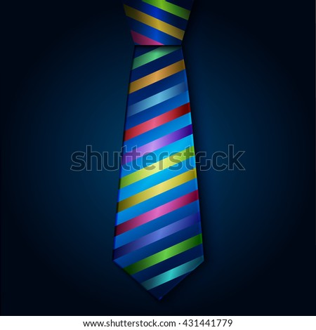 Colored striped tie