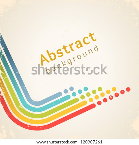 Colored stripes with circles, vector. Design template - stock vector