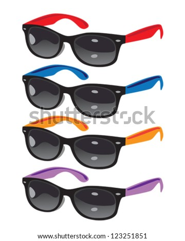Colored Sunglasses Vector Illustration
