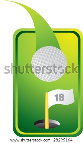 colored tab golf ball - stock vector