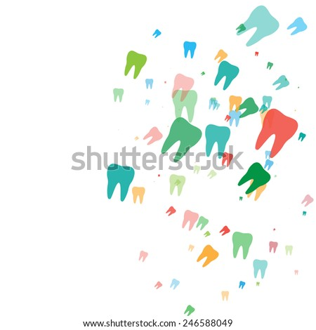Colored teeth  - stock vector