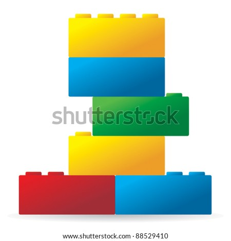 Colored toy. - stock vector