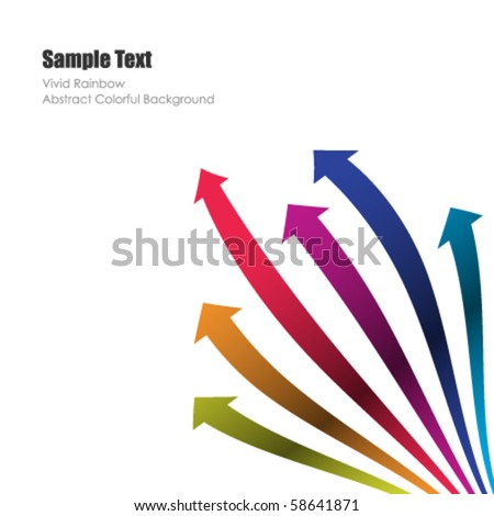 Colored vector arrows - stock vector