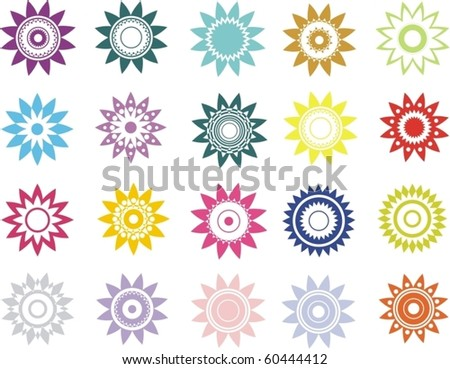 colored vector ornament - stock vector
