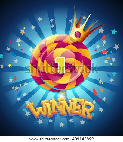 Colored winners window for web site or app graphics and design.  For newspapers, magazines, web design, websites, printing - stock vector