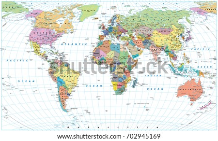 Detailed world map camouflage colors country vectores en stock colored world map borders countries roads and cities isolated on white gumiabroncs Images