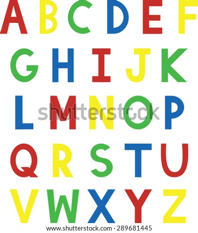Colorful ABC Clip Art - Vector Illustration