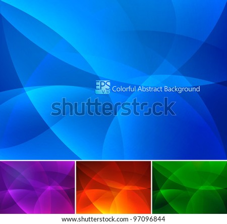 Colorful Abstract Background. A set of colorful abstract background. Each background separately on different layers.  Available in 4 different colors - stock vector