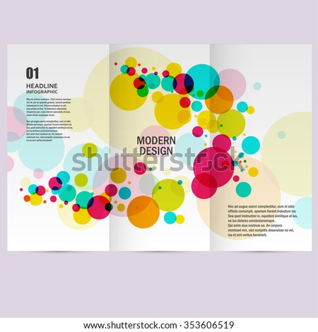 Colorful abstract background beautiful circles. - stock vector