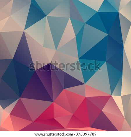 Colorful abstract background. color polygon backdrop. Geometric triangle background.