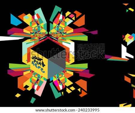 Colorful Abstract Background for text - stock vector