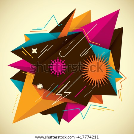 Colorful abstract background. Vector illustration. - stock vector