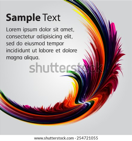 colorful Abstract Background Vector. text box. card.  - stock vector