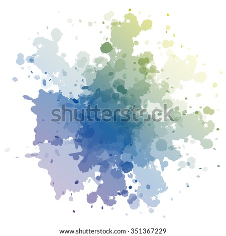 Colorful abstract background with blots and smudges on a white background.