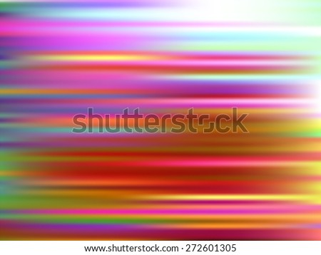 Colorful abstract background with effect of motion. Digital image with colored stripes. Blurry lines. Vector illustration. - stock vector