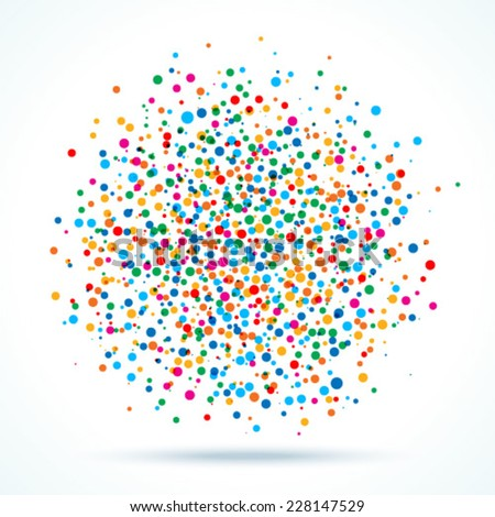 colorful abstract blot of dots, vector illustration  - stock vector