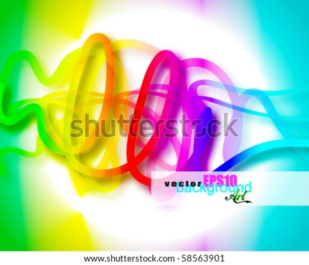 Colorful Abstract Business Card Background for Flyers or Brochures - stock vector