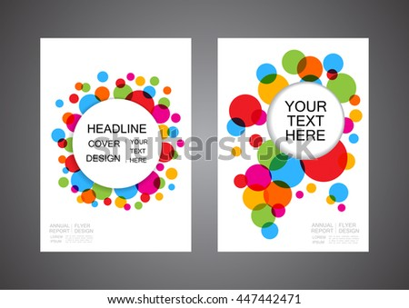 colorful abstract circle flyer, modern cover design
