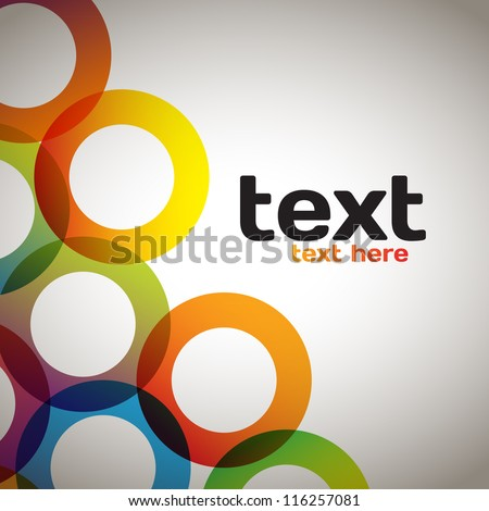Colorful Abstract Circles - stock vector