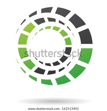 Colorful Abstract Cogs Icon - stock vector