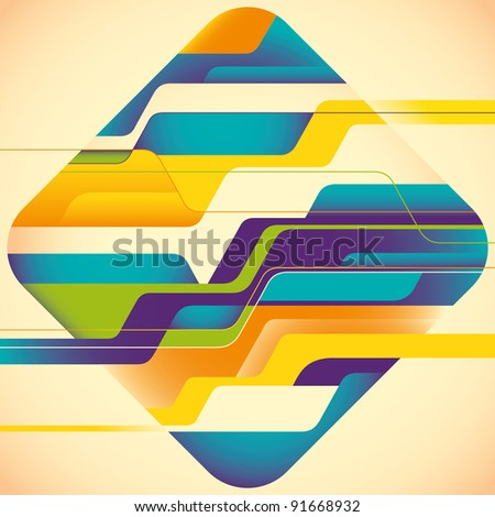 Colorful abstract concept. Vector illustration. - stock vector