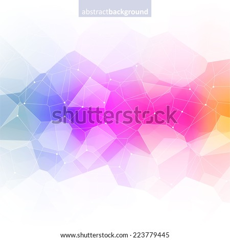 Colorful abstract crystal background. Ice or jewel structure. Pink, Yellow and blue bright colors. - stock vector
