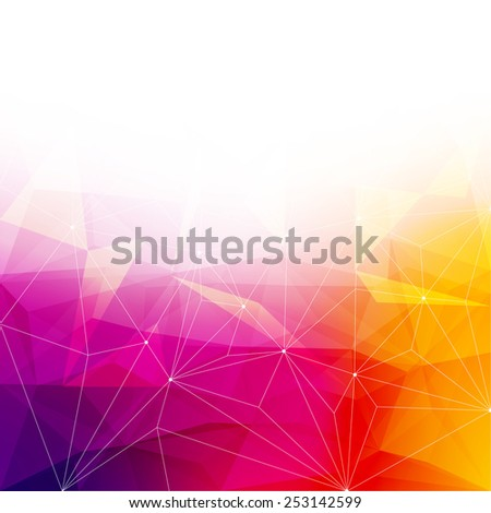 Colorful abstract crystal background. Ice or jewel structure. Pink, Yellow and red bright colors. - stock vector