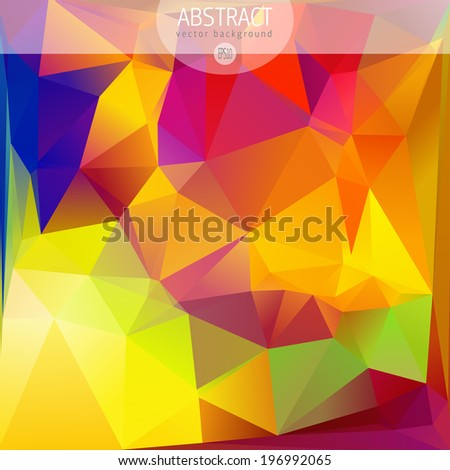 Colorful abstract design template