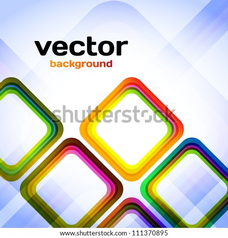 Colorful Abstract Diamonds - stock vector