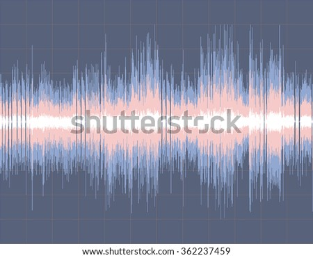 Colorful abstract digital sound wave background. Vector art. - stock vector