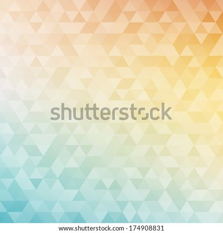 Colorful abstract geometric background with triangular polygons (low poly).  - stock vector